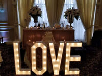 Wedding Marquee Letters (Dimmable)