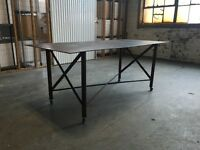 Factory table ; work station design desk or dinning table