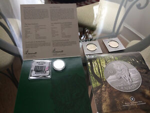 2  $20 Canada Silver 9999 Coins & 2 -  .50 cent coins