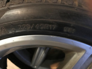 Mercedes C300 Winter Tires
