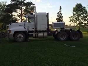 Truck and trailer ready for harvest