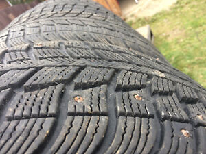 FOR SALE: Used 4 Winter Tires Studded St. John's Newfoundland image 2