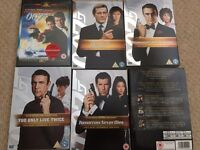 8 X James Bond DVDs in great condition.