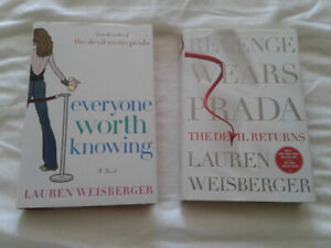 Lauren Weisberger Books: Everyone Worth Knowing and Revenge...