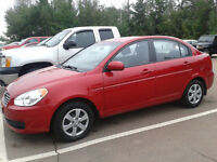 2011 Hyundai Accent red Sedan