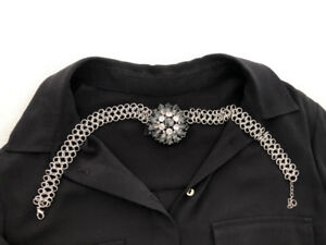 COLLIER CHAINE ETCRISTAUX -NECKLACE WITH STRASS