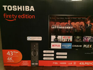 "Brand new/unopened Toshiba 43"" LED 4k Ultra HD Smart TV- Fire TV"
