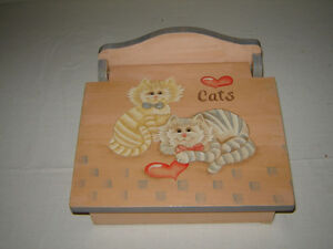 Folk art painted wood box