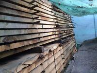 Seasoned English oak boards £35 per cubic foot