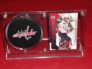 ALEX OVECHKIN CARD AND PUCK HOLDER