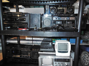 Various Portable Stereo equipment and TV's for sale