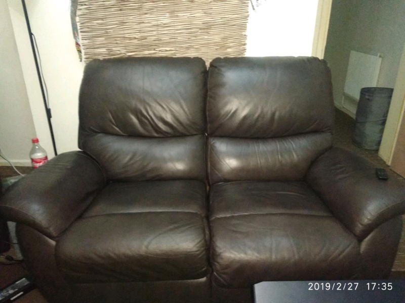 Tremendous Real Leather Recliner Brown Sofa Lazy Boy In Salford Manchester Gumtree Theyellowbook Wood Chair Design Ideas Theyellowbookinfo