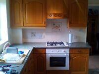 Oak Kitchen Doors and Electric Fan Oven
