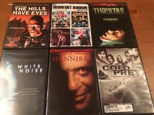 36 Movies all Thriller or horror