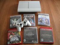 500 GB super slim playstation 3 with games