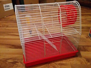 Hamster cage and excersise ball