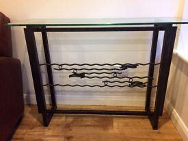 Steel & Glass Side Table