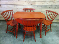 Rustic / Country Maple Table and 4 Chairs - Delivery Available