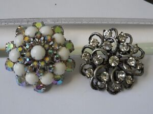 Sherman Large Unsigned Brooches