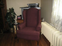 Plum Wing Back Chair