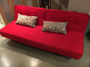 Christmas Special! Sofa bed-Structube COSI Sofa-bed -bright Red