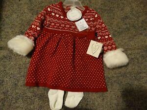 3-6 months Christmas sweater dress