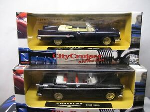10 diecast american made cars, 1:43 or O scale