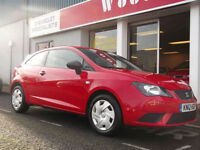 2012 SEAT IBIZA 1.2 TDI ECO S SPORTCOUPE,UPTO 5 YEARS 0% FINANCE AVAILABLE OR