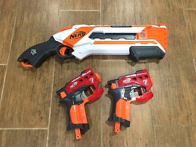 Lot Of 3 Nerf Guns Roughcut 2X4   Mega Bigshot