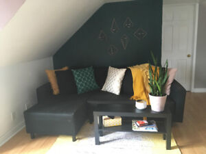 Modern Black Couch/Sofa Bed IKEA Lugnvik