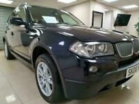 BMW X3 3.0d SE Blue Leather Auto 4X4 218BHP DIESEL WARRANTY 12 MONTHS MOT FSH