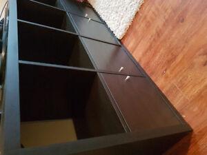 Large 8 compartment ikea book shelf.
