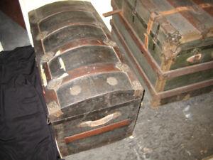 Metal clad steamer chest