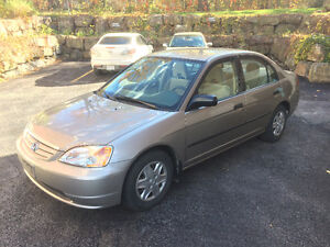 2003 Honda Civic DX Berline 88 500 KM/EXTRA PROPRE