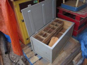 OLD WOOD CARPENTERS BOX