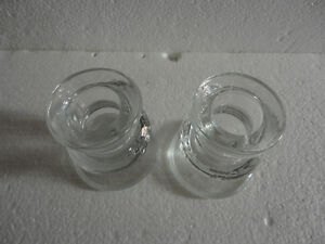 Set of 2 glass candlestick holders brand new London Ontario image 2