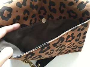 "J CREW Leopard SUEDE ""Invitation"" Envelope CLUTCH/CROSSBODY London Ontario image 10"