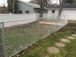 White chain link fence
