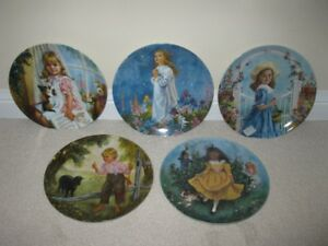 5 Collector Plates in the Treasured Songs of Childhood Series
