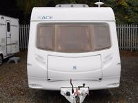 2005 Ace Supreme Globestar Much sought after Island bed layout, twin axle caravan.