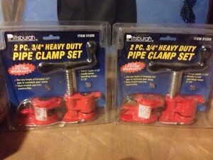 2 pipe clamp sets (pipe not included)