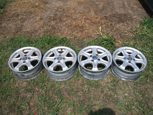 factory style aluminum vw rims, fits 84 to 94 and others