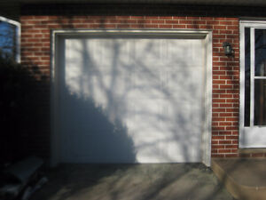 Garage door and 1/2 hp opener