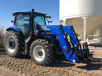 New Holland T6-140 like new 400hrs MFWD Loader