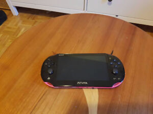 PS Vita Slim (pink) + 64GB memory card + case