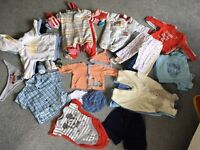 Baby boy 0-6 month clothes bundle