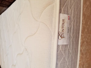 2 Single Mattresses, Box Spring and Frames - $375 (Burnaby)