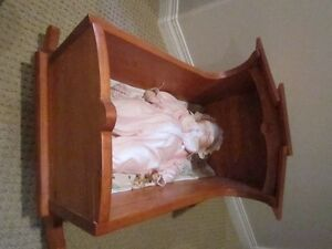 "Vintage Child Doll Rocking Cradle Handmade 17.5"" High Regina Regina Area image 4"