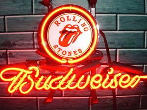 New Budweiser Rolling Stones Beer Neon Light Sign 14