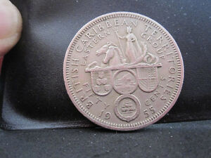 1955 British Caribbean Territories Fifty Cents Coin